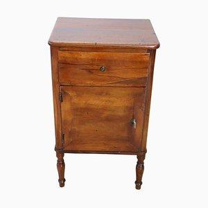 Antique Solid Walnut Nightstand, 1850s
