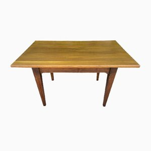 Rustic Solid Oak Table with 2 Drawers