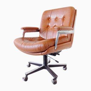Chaise de Bureau en Cuir de Ring Mekanikk, 1960s