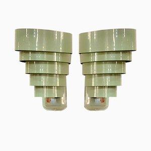 Slated Wall Lamps, USA, 1950s, Set of 2