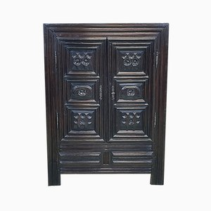 Small Louis XIII Style Breton Cabinet in Chestnut, 18th Century