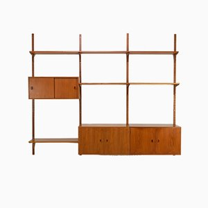 Large Vintage Danish Teak Shelving System from HG Møbler, 1960s