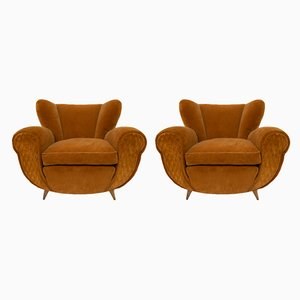 Art Deco Chairs by Guglielmo Ulrich, Italy, 1940s, Set of 2