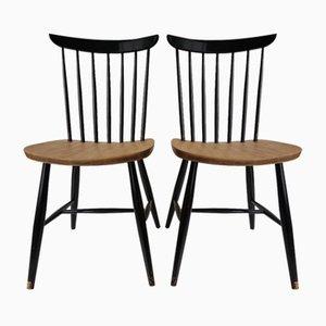 Esszimmerstühle von Tapiovaara für Pastoe, 1950er, 2er Set