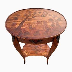 Antiker Nierenförmiger Tisch mit Intarsien