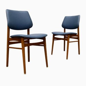 Mid-Century Wooden Chairs, Set of 2