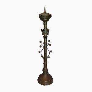 Bougeoir Néo-Gothique en Bronze
