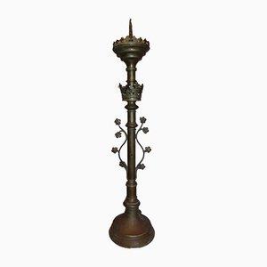 Bronze Neo-Gothic Candlestick