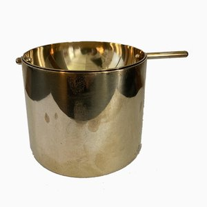 Brass Cylinda Ashtray by Arne Jacobsen for Stelton, 1970s