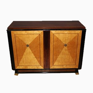 Art Deco Rosewood and Maple Bar