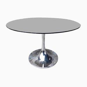 Runder Tisch mit Tulip Base & Glasplatte