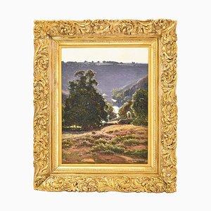 Didier Pouget, Antike Landschaftsmalerei mit Fluss