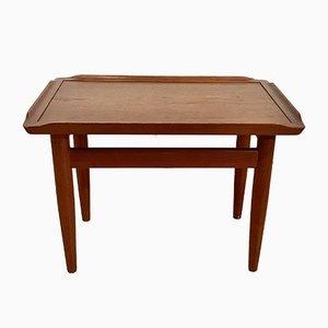 Solid Teak Coffee Table by Finn Juhl, Denmark, 1960s