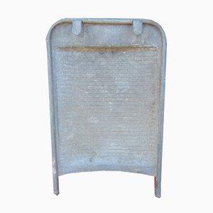 Vintage Art Deco Metal Washboard, 1940s