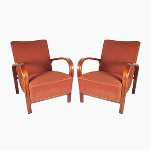 Armchairs by Kropacek and Kozelka for Interier Praha, 1950s, Set of 2
