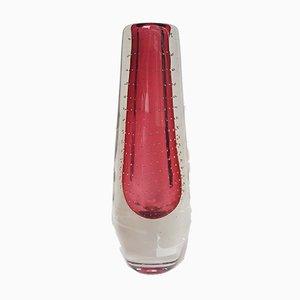 Rote Vase mit Gravierten Blasen von Gunnel Nyman für Theresienthal