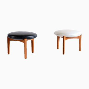 Three-Legged Stools in Teak by Sven Ellekaer for Christian Linneberg, Denmark, 1962,Set of 2