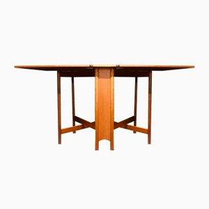 Table Pliante Mid-Century en Teck par Tom Robertson pour McIntosh, 1960s