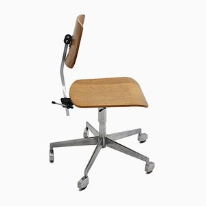 Drehbarer Moderner Mid-Century Schreibtischstuhl oder Bürostuhl, 1950er