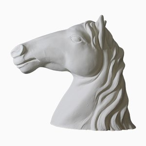 Study, Restored Horse Head in Painted Resin, Italy, 1970s