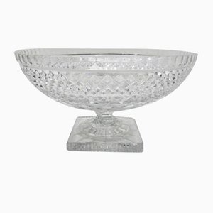Art Deco Crystal Glass Fruit Bowl with Feet
