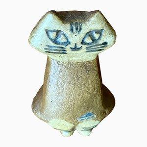 Statuetta raffigurante un gatto di Lisa Larson per Gustavsberg
