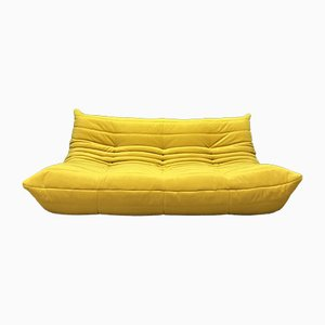 Yellow 3-Seater Togo Sofa by M. Ducaroy for Ligne Roset