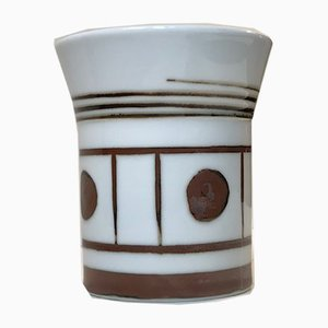 Graphic Porcelain Vase by Trude B. Jespersen for Bing & Grondahl, 1970s