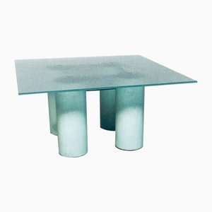 Architectural Design Square Serene Dining Table by Lella & Massimo Vignelli for Jolly, Italy, 1980