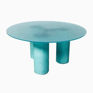 Postmodern Architectural Round Serenissimo Dining Table by Lella & Massimo Vignelli for Acerbis, Italy, 1980s