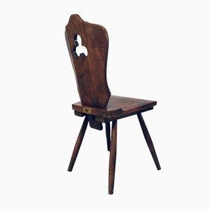 Brutalistisches Esszimmer Set von Lux-Wood, Belgien, 1960er, 6er Set