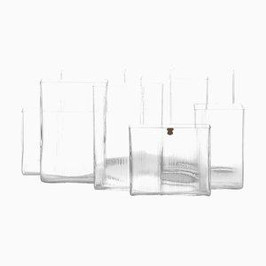 Model Isi Vases by Lennart Andersson for Gullaskruf, Set of 8