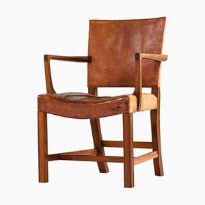 Sedia modello 3758a o The Red Chair di Kaare Klint per Rud. Rasmussen