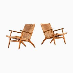Model Ch-25 Lounge Chairs by Hans Wegner for Carl Hansen & Son, Set of 2