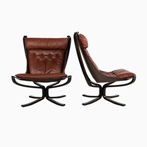 Falcon Chairs by Sigurd Ressell for Vatne Möbler, 1970s, Set of 2
