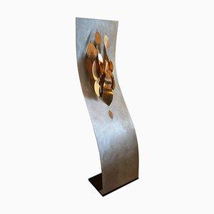 Skulptur Stehlampe mit Kupferblättern, Italien, 1980er