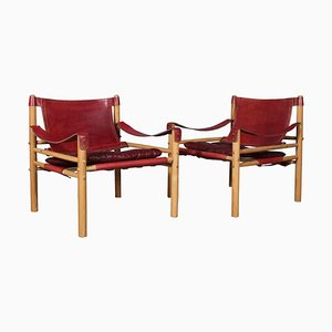 Safari Model Scirocco Chairs by Arne Norell, Set of 2