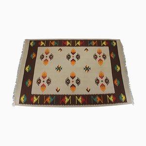 Large Mid-Century Wool Kilim Rug, 1960s