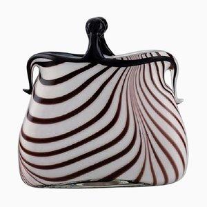 Italian Murano Handbag in Mouth Blown Art Glass, 1960s