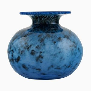 Vase in Blue Mouth-Blown Art Glass by Bertil Vallien for Kosta Boda