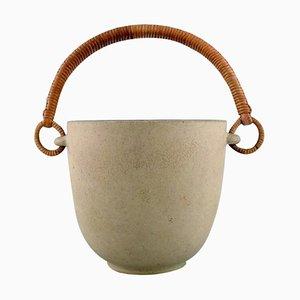 Ice Bucket in Glazed Ceramics by Arne Bang, 1940s