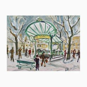 Estación de metro Les Abesses Montmartre de Roland Dubuc, años 60