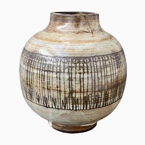 Vaso Mid-Century in ceramica di Jacques Pouchain per Atelier Dieulefit, anni '60