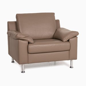 Brown Leather Armchair by Ewald Schillig