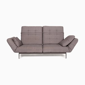 Mera Gray Fabric Two-Seater Sofa by Rolf Benz