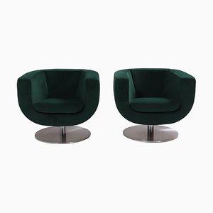 Green Tulip Armchairs by Jeffrey Bernett for B & B Italia, Set of 2