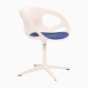 Rin Dining Swivel Chair in White by Hiromichi Konno for Fritz Hansen