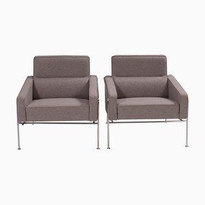 Grey Series 3300 Armchairs by Arne Jacobsen for Fritz Hansen, 2002, Set of 2