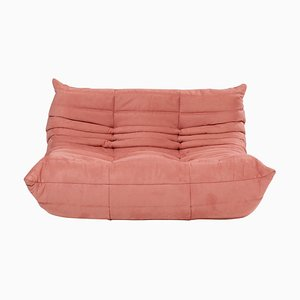 Togo Pink Modular Two Seater Sofa by Michel Ducaroy for Ligne Roset
