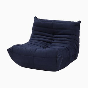 Togo Dark Blue Armchair by Michel Ducaroy for Ligne Roset